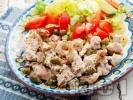 Рецепта Пилешки филенца със сметана и кисели краставички